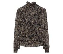 Romy Bedruckte Bluse aus Chiffon mit Raffung