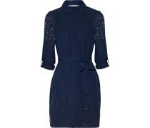 Prita Embellished Silk Dress Rauchblau