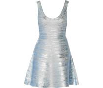 Eva Metallic Coated Bandage Mini Dress Silber