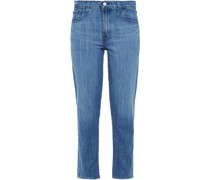 Adele Halbhohe Cropped Jeans mit Geradem Bein