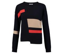 Asymmetric Cashmere Sweater Mitternachtsblau