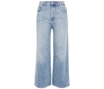Hepburn Hoch Sitzende Jeans mit Weitem Bein