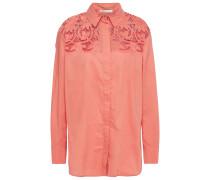 Capioni Lace-paneled Cotton-poplin Shirt