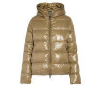 Thiacinque Quilted Shell Hooded Down Coat Braun