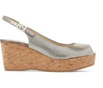 Praise lamé wedge sandals