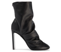 D'arcy Ruched Leather Ankle Boots