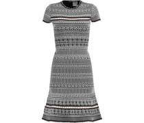Cutout jacquard-knit dress
