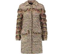 Metallic Bouclé-tweed Coat Gold