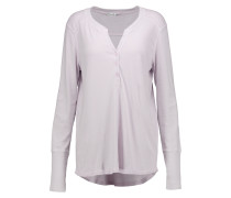 Henley Supima Cotton And Modal-blend Top Flieder