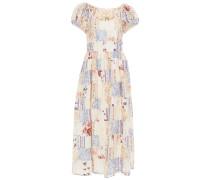 Lais Patchwork-effect Floral-print Cotton-poplin Maxi Dress