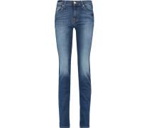 Roxanne Mid-rise Slim-leg Jeans Mittelblauer Denim