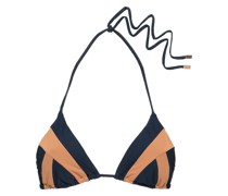 Zweifarbiges Triangel-bikini-oberteil