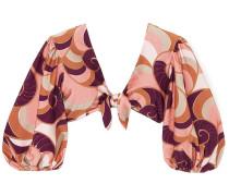 Nautilus Tie-front Printed Bikini Top