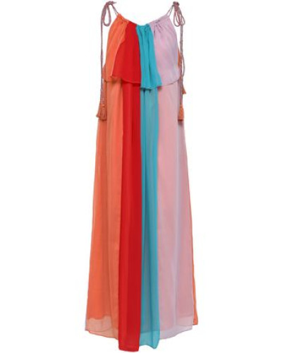Anais Color-block Crepon Maxi Dress Multicolor