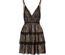 Tiered lace mini dress