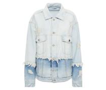 Distressed Paneled Denim Jacket