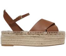 Ximena Leather Platform Espadrille Sandals