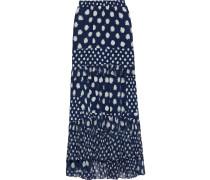 Lora Printed Silk Crepe De Chine And Georgette Maxi Skirt