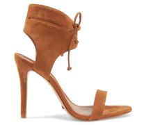 Kora Suede Sandals Camel