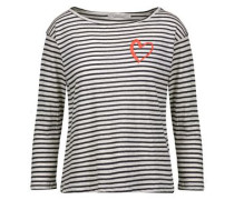Amelia appliquéd striped stretch-modal top