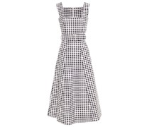 Petra Belted Gingham Cloqué Midi Dress