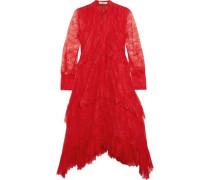 Nigella ruffled lace dress