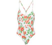 Open-back Floral-print Swimsuit