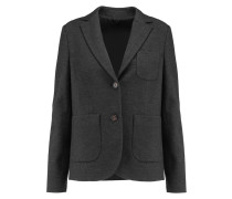 Wool And Cotton-blend Blazer Dunkelgrau