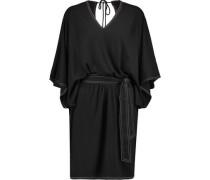 Vic tie-waist stretch-jersey mini dress