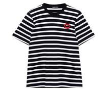 Alex Gestreiftes T-shirt aus Baumwoll-jersey mit Applikationen