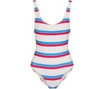 Anne Marie Striped Swimsuit Wollweiß