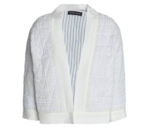 Embroidered cotton-gauze jacket