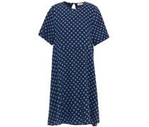 Kleid aus Twill aus Einer Baumwoll-wollmischung mit Polka-dots