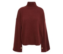 Button-detailed Cashmere Turtleneck Sweater