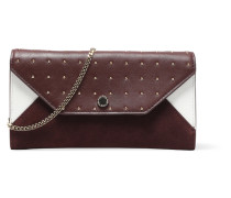 Studded Leather Wallet Burgunder