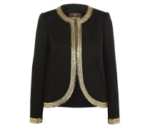 Sequin-embellished Wool Jacket Schwarz