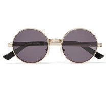 Roll Deep Round-frame Gold-tone Sunglasses