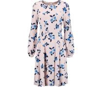 Printed Silk Dress Babypink