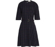 Belted printed flannel dress