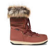 Monaco Faux Fur-trimmed Shell Snow Boots