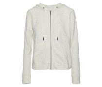 Marled cotton-terry hooded sweatshirt