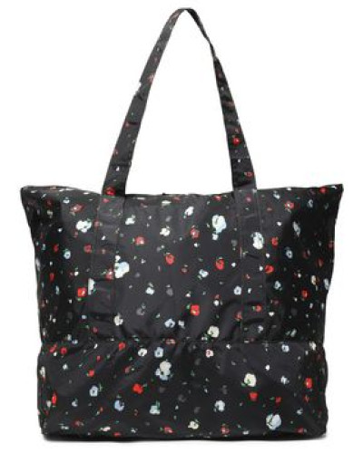 Floral-print Shell Tote Black Size --