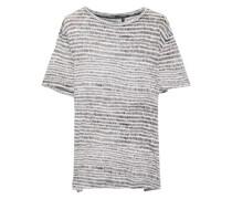 T-shirt aus Baumwoll-jersey mit Flammgarneffekt und Print