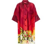 Nerito Printed Hammered Silk-satin Shirt