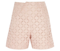 Kelston Broderie Anglaise Cotton And Silk-blend Shorts Puder