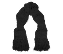 Fringed Wool And Cashmere-blend Scarf Schwarz
