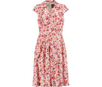 Jane Floral-print Cotton-blend Dress Korall