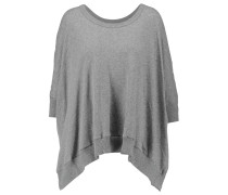 Oversized Cotton And Cashmere-blend Sweater Grau