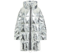 Pyramide Oversized Quilted Shell Hooded Down Coat