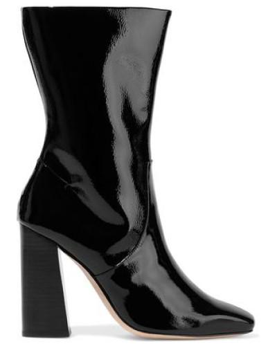 Caroline Patent-leather Boots Black